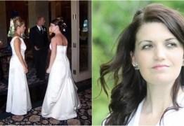 Sogra dela usa vestido de noiva para a casamento