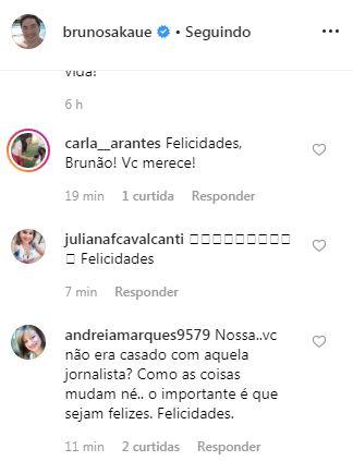coment - APAIXONADO: No dia dos namorados Bruno Sakaue assume romance e faz declaração no Instagram