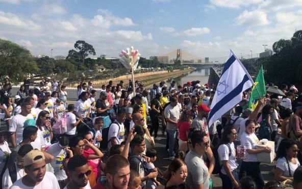 """marcha para jesus 300x188 - Jair Bolsonaro é o primeiro presidente da república a participar da """"Marcha para Jesus"""""""