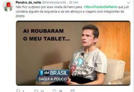 #MOROTRAIDORDAPÁTRIA: Protesto virtual contra ministro Sérgio Moro alcança Trending Topics do Twitter