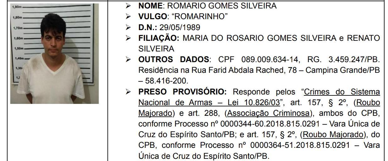 """romarinho - Após ser recapturado em Fortaleza, """"Romarinho"""" aguarda decisão da justiça para onde deve ser transferido"""