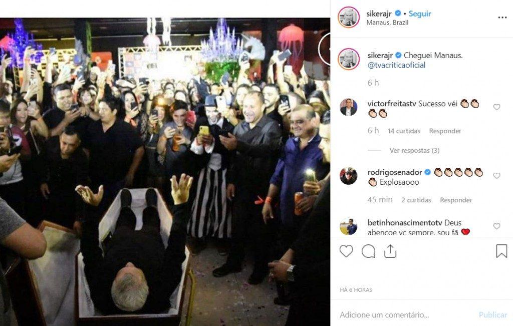 sikera jr caixao anunciado contratataçao tv a critica manaus am 210619 Instagram 1024x651 1024x651 - 'CHEGUEI, MANAUS!': Sikera Jr é anunciado apresentador de programa na TV A Crítica