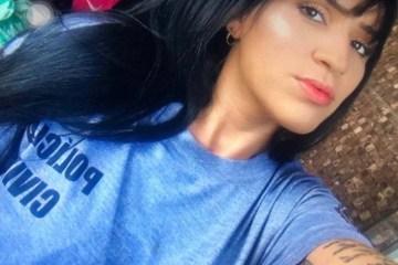 1 raquel6 12079018 - Presa mulher que se passava por policial e tatuou escudo da corporação