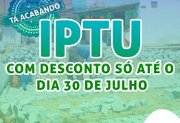 Prefeitura estende campanha para pagamento do IPTU e garante desconto até 30 de julho
