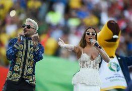 Anitta é critica no encerramento da Copa América: 'Chama a Ivete'