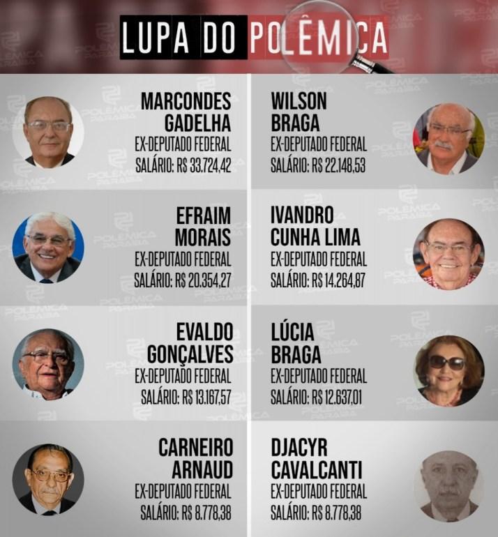613379ea 1590 4b4f 9435 bedf3abdfaad - LUPA DO POLÊMICA: Conheça quem são e quanto ganham os ex-deputados paraibanos  aposentados pela Câmara