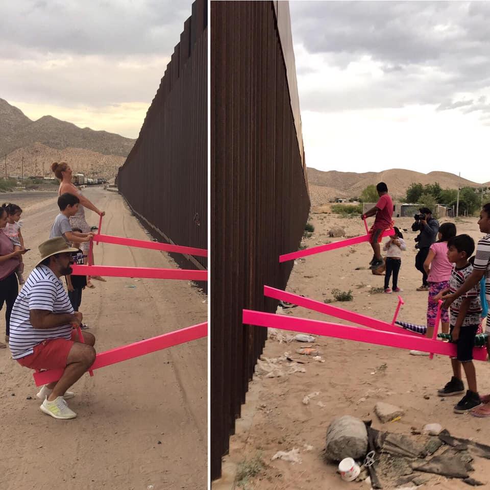 67794230 10105051254267878 4427024041269788672 n - FRONTEIRA MÉXICO X EUA: Artistas instalam gangorras para crianças brincarem juntas - VEJA VÍDEO
