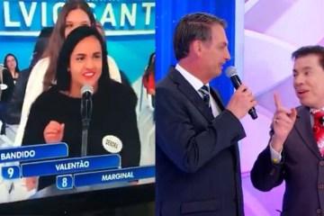 BOLSONARO SILVIO - 'BANDIDO, VALENTÃO OU MARGINAL': mulher diz que características combinam com Bolsonaro - VEJA VÍDEO