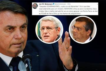 APÓS AGRESSÃO AOS NORDESTINOS: Bolsonaro volta a negar insulto e ataca general que o criticou