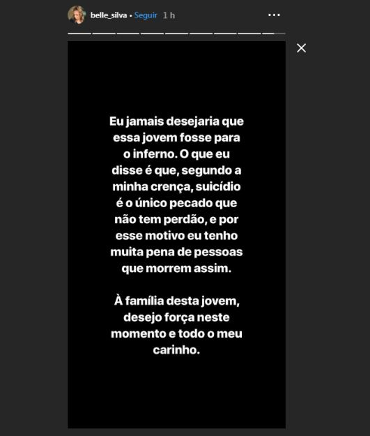 Capturar7 1 - Esposa de Thiago Silva comenta morte de blogueira: 'Se suicidou porque quis e vai queimar no mármore do inferno' - VEJA VÍDEO