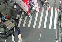 Idoso de 81 anos, vítima do acidente na Avenida Epitácio Pessoa, segue internado na capital paraibana
