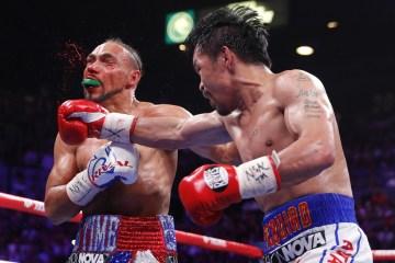 ap19202192860528 - Pacquiao vence Thurman por pontos e conquista cinturão da Associação Mundial de Boxe