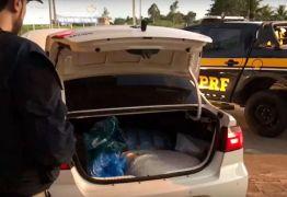 PRF prende casal de universitários com cerca de 30kg de maconha e R$ 20 mi em veículo roubado