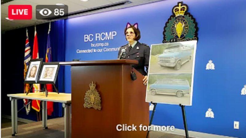 cat - Polícia canadense se desculpa após transmitir coletiva de imprensa com filtro de gatinho ativado