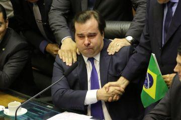fcozzb df 100720195243 0 - Rodrigo Maia chora após receber elogios de Alexandre Frota - VEJA VÍDEO