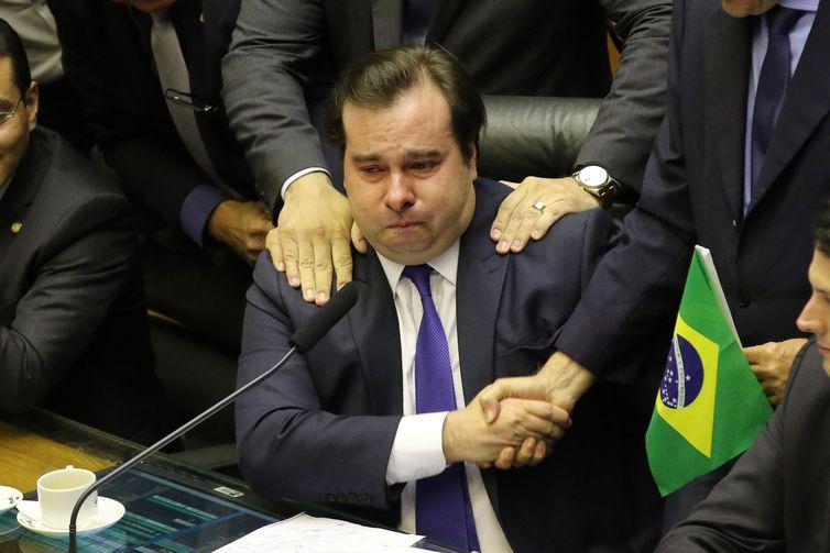 fcozzb df 100720195243 0 - 'Rodrigo, Rodrigo', gritam deputados e presidente da Câmara chora - VEJA VÍDEO