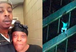 Homem escala 15 andares de prédio para salvar a mãe durante incêndio – VEJA VÍDEO
