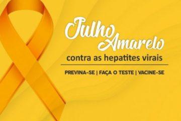 julho amarelo - JULHO AMARELO: Complexo Clementino Fraga realiza Semana de Luta Contra Hepatites Virais