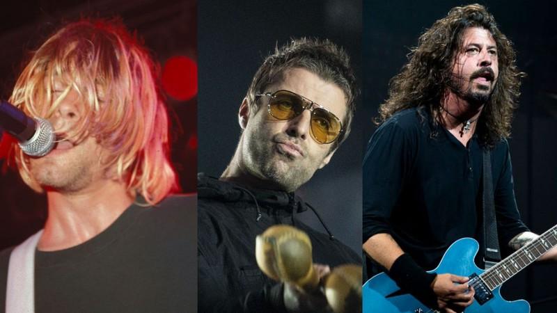 """kurt liam dave widelg - Oasis, Nirvana e Foo Fighters agora são """"rock de pai"""", diz jornal inglês"""