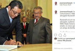 """Senador José Maranhão lamenta morte de seu suplente: """"Roosevelt vai embora, mas sua história fica para sempre"""""""
