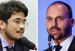 'FANTASMA MIMADO': Eduardo Bolsonaro e Kataguiri trocam farpas após veto a lei sobre fake news