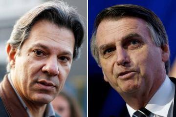 BOLSONARO VERSUS HADDAD - REVISTA VEJA: se a eleição de 2020 fosse hoje, Bolsonaro venceria Haddad com 48% dos votos contra 35% do petista, mostra pesquisa