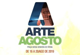EM CAJAZEIRAS: Arte Agosto terá cinco dias de atrações culturais e artísticas na Praça da Matriz