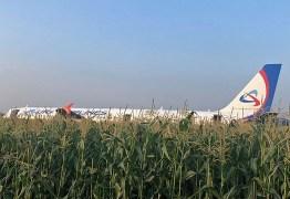 Avião com mais de 200 pessoas a bordo faz pouso de emergência em milharal após colidir com pássaros – VEJA VÍDEO