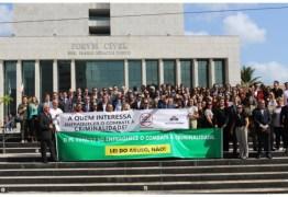 Entidades representativas de agentes públicos do sistema de justiça paraibano realizam ato contra o PL do abuso de autoridade