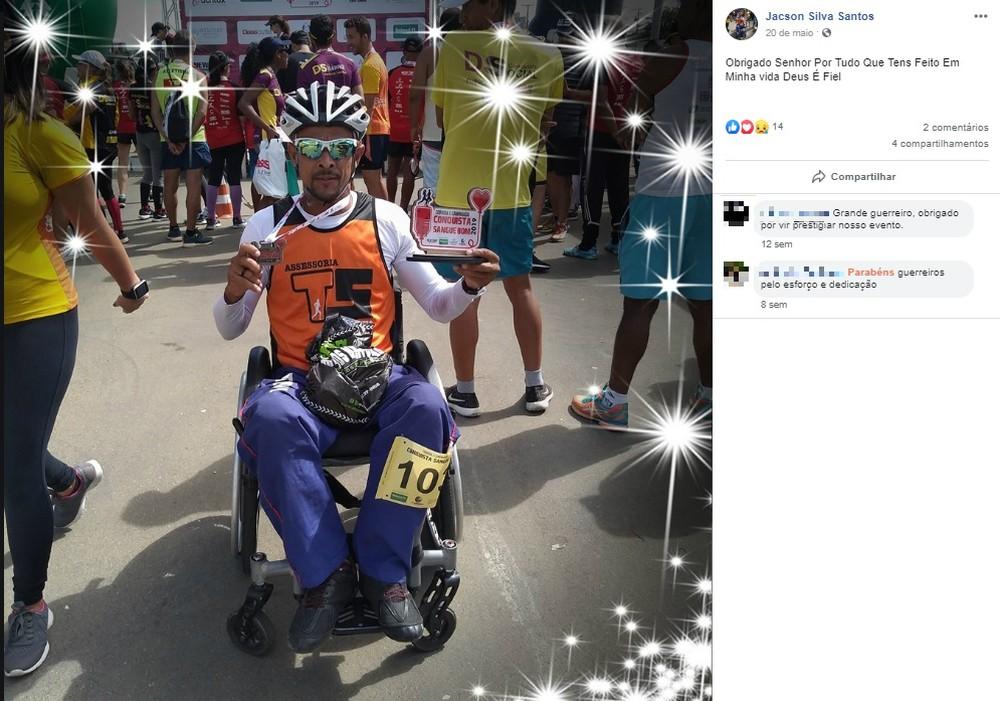 jacsonsilvasantos - Paratleta morre atropelado por carro durante competição