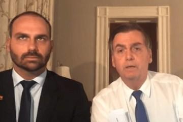 """jair bolsonaro eduardo - Bolsonaro sobre Eduardo: """"Não quero submeter meu filho ao fracasso"""""""