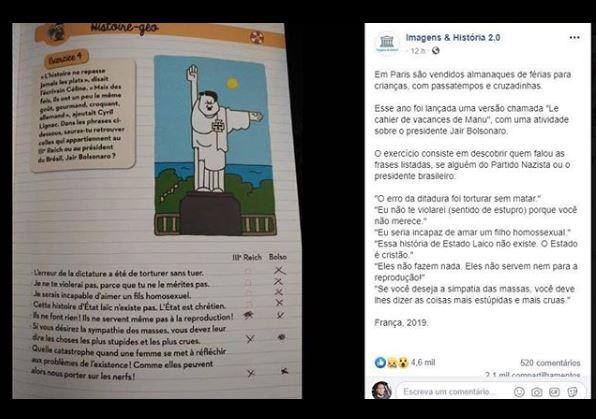 livro - Almanaque francês compara Bolsonaro a membro do Partido Nazista e propõe desafio