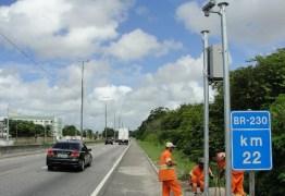 Quinze radares passam a multar por excesso de velocidade em BR da Paraíba, diz Dnit