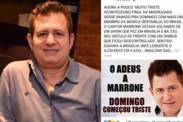 morte 630x420 - Fãs se pronunciam sobre suposta morte de Marrone após Fake News espalhar-se