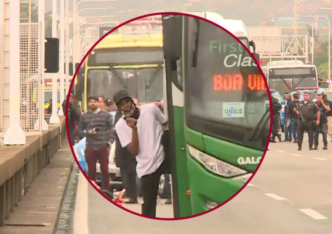 SEQUESTRADOR MORTO: Homem que tentou assaltar ônibus usava arma de brinquedo e foi atingido por atirador de elite  DO MOMENTO DOS TIROS