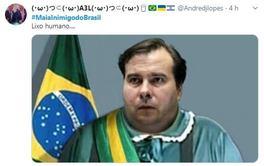 001 6 - Tag #MaiaInimigodoBrasil volta a ser um dos assuntos mais comentados no Twitter