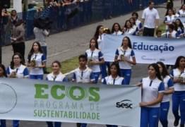 Fecomércio, Sesc e Senac Paraíba participam de desfile cívico na Capital