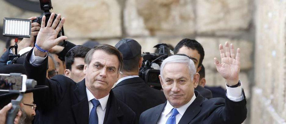 2019 04 01t152218z1604964666rc19f9042460rtrmadp3israel brazil bolsonaro western wall e1568845171594 - Brasil já perdeu R$ 3,5 bilhões no comércio com Estados Unidos e Israel