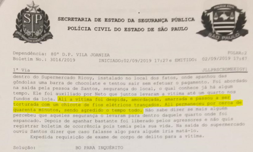 20190903214008383855u - Polícia identifica seguranças que torturaram jovem negro com chicotadas