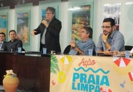Lindolfo Pires participa de solenidade que autoriza pacote de R$ 43,6 milhões em obras de saneamento e lança campanha Praia Limpa