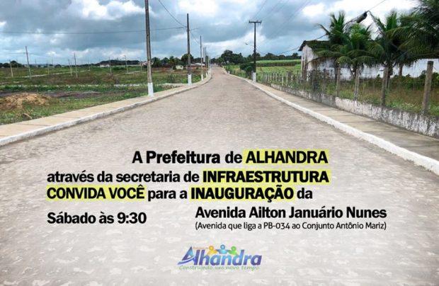 70354482 3015892011815461 152338289511104512 n 620x404 - INAUGURAÇÃO: Prefeito de Alhandra entrega obra de pavimentação no conjunto Antônio Mariz, neste sábado