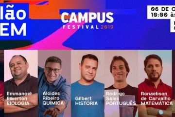 NOVIDADE: campus Festival 2019 anuncia Aulão do Enem na programação