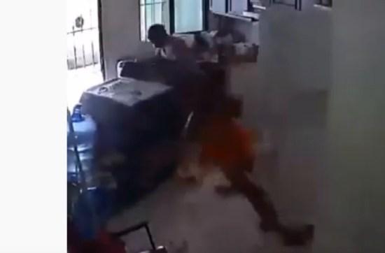 PERIGO: vídeo mostra fogão explodindo em cozinha de residência