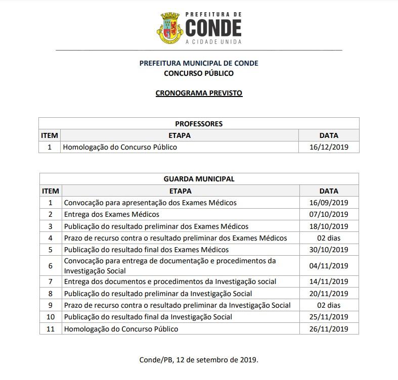 Capturare 1 - Prefeitura de Conde divulga resultado final do Concurso Público para Professores e Guardas Municipais