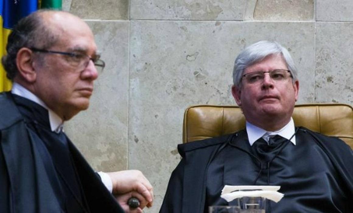 Gilmar e Janot - MPF lamenta declarações de Janot e repudia 'oportunismo' do STF com mandados de busca contra ex-PGR
