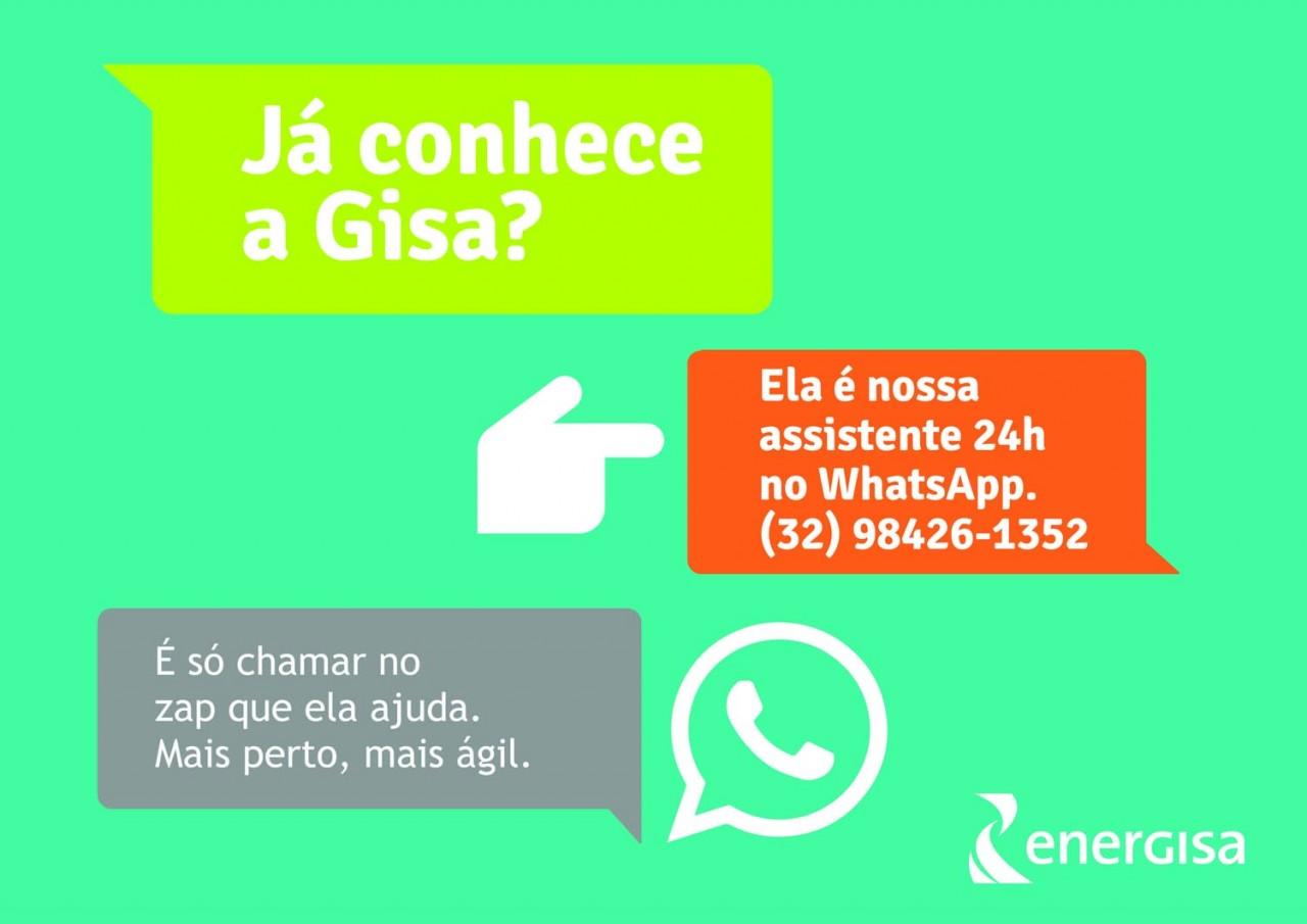 Imagem Gisa - Energisa lança novo canal de atendimento via whatsapp