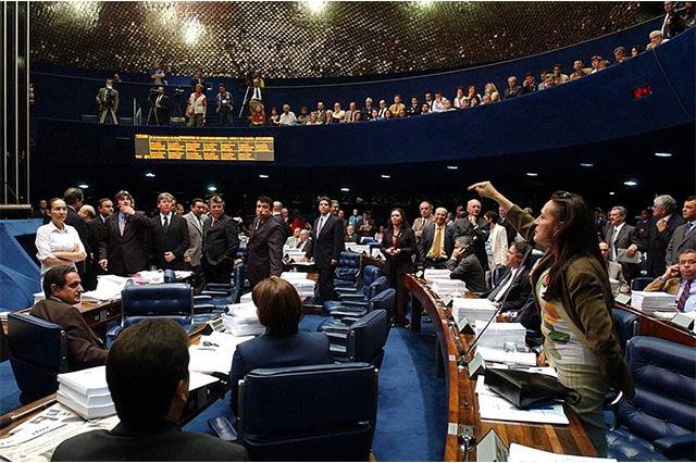 Sessão do Senado sobre a reforma da Previdência - Congresso rejeita parte dos vetos de Bolsonaro ao projeto do abuso de autoridade
