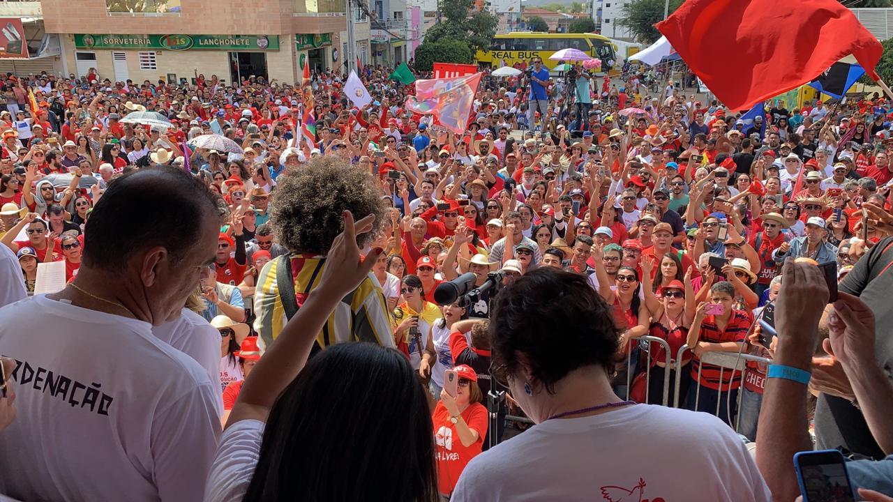 WhatsApp Image 2019 09 01 at 14.50.09 - 'SE ALGUÉM NÃO VEM, PROBLEMA DE ALGUÉM': Ricardo alfineta 'ausências' em ato pela Transposição e afirma que 'o povo caminha sozinho' - VEJA VÍDEO
