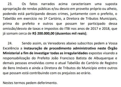 docu 300x217 - ESCÂNDALO NO BREJO: vereadores denunciam que prefeito de Areia teria sonegado impostos e desviado dinheiro público