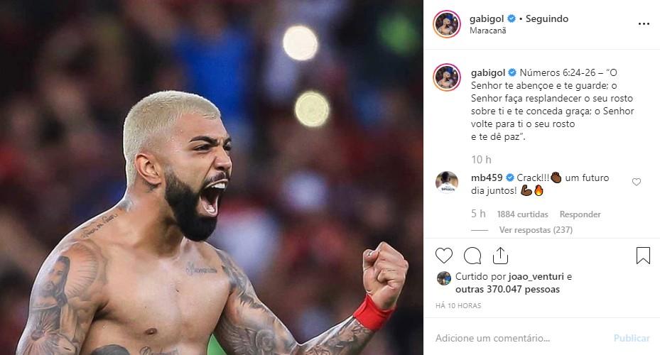 gabigol insta - Balotelli manda recado para Gabigol e quer parceria com o brasileiro